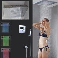auto valve body - Unique auto thermostatic valve shower head with body spray bathroom led shower set