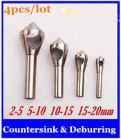 Wholesale 4pcs Countersink Deburring Bits mm mm mm mm Tool Set Expanding Drill Step Drill Bit new