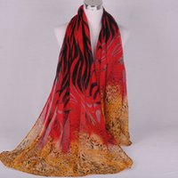 batch rings - New fashion Leopard grain stripe long voile women scarf autumn and winter style Multicolor mixed batch of DHL