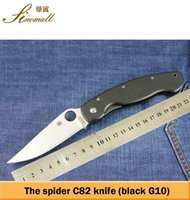 Wholesale SPYDERCO C82 camping knife Hunting Folding Pocket Knife Survival Knife CPM S30V Xmas gift KNIFE sample freeshipping