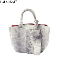big hobo handbags - Original Brand Vintage Causal Tote Bags with Coin Purse Snakeskin Big Tote Women Shoulder Bag Women Leather Handbag BWC0445