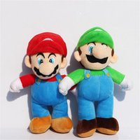 Anime & Comics mario plush - Super Mario Bros Plush Toy inch Stand LUIGI Mario Plush Doll Stuffed Toys