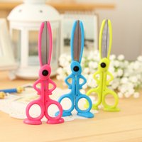 Wholesale pieces Cut Safety Scissors School Kids Art and Craft For Children Crafting Tools And Supplies Scissors Cutting Papeleria