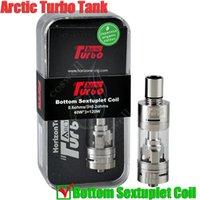 100% original Ártico Turbo Tanque Horizonte bobina séxtuple Sub Ohm Top Mods de turbinas de vapor RDA SMOK TFV4 Mini -Bueno corona vaporizador atomizador DHL