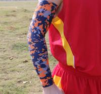 Wholesale NEW Digital Camo Compression Sports fishing Arm Sleeve Moisture Wicking softball baseball cycling sleeve