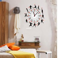 basketball clock - Wall stickers home decoration Creative clock stickers DIY combination collage decorative backdrop SA basketball combination