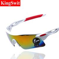 al por mayor sunglasses bike-2016 Moda ciclismo de gafas de sol deportivas al aire libre para bicicletas Eyewears Goggle La mitad de las gafas de sol marca de diseño de marco para hombres y mujeres
