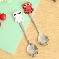 baby soups - pieces Kawaii Baby Soup Spoon With Soft Feel Handle Can be Used As Drink Coffee Soup Child feeding Gift for Baby
