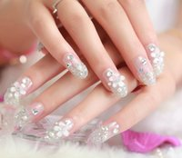 Wholesale Fashion Elegant Wedding favor Crystal fake nails High Quality pieces false nails Pack