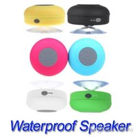 Wholesale 2016 Portable Waterproof Wireless Bluetooth Speaker Shower Car Handsfree Receive Call mini Suction IPX4 speakers box player Mic Promotion