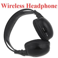 Wholesale Car Headrest Dvd Player Wireless - Wholesale-Infrared Stereo Double-channel Wireless Headphone Headset IR Car Headrest DVD Player