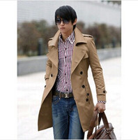 Wholesale New Men s Stylish Double Breasted Long Trench Coat Men Overcoat Winter Long Jacket For Men Plus Size M XXL