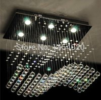 Cheap .2014 top sales Modern square ceiling K9 Crystal Lamp Crystal wave Chandelier L800*W400*h800mm
