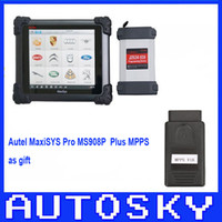 Wholesale 100 Original AUTEL MaxiSYS Pro MS908P AUTEL MaxiDas Maxisys pro DS708 Diagnostic System with WiFi top In stock with MPPS gift