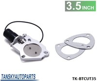 Wholesale TANSKY quot Performance Electric Exhaust Cutout Valve Remote Control Motor Kit TK BTCUT35 Have In Stock