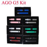 Cheap Ago G5 dry herb vaporizer pen vapor cigarettes kits dry herb atomizer LCD Display Ago G5 pen E Cigarette wax vaporizer DHL free