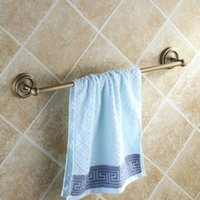 Wholesale Copper antique towel rack single towel bar towel hanging bathroom hardware accessories thickening type order lt no track