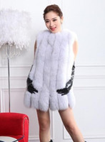 bar top coating - 2015 new female fox fur fur coat outwear vest imports long in the entire bar tank top sale season whole piece fur bag mail