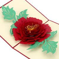 Wholesale Handmade D Pop Up Birthday Christmas Greeting Postcard Folding Kirigami Card for Valentine s Day Wedding Marriage Anniversary H16167