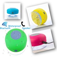 Wholesale Waterproof Portable Wireless Bluetooth Mini HIFI Speaker Shower Pool Car handsfree Mic color option DHL JF