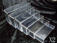 acrylic display riser - LAYER TRANSPARENT ACRYLIC DISPLAY RISER SHOWCASE STAND x