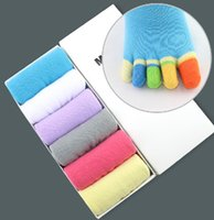Wholesale pair colors High Quality Cotton toe socks women s Candy Color Five fingers toe socks gift box
