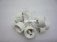 Wholesale GU10 Base Holder Socket Wire Connect Ceramic Adapter GU Sockets For GU10 Lights Bulb Spotlight LED CFL Halogen Lighting Express