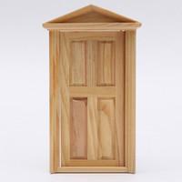 Wholesale Lowest Excellent Workmanship Dollhouse DIY Mini Miniature Panel Wooden Exterior Door Steeple Top Design