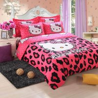 Wholesale Hello Kitty bedding set cotton Christmas gift brand bed clothing comforter set bed set quilt cover linens duvet set kids