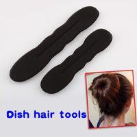 Wholesale 2PCS Hair Braider Hot Magic Sponge Hair Styling New Arrival Size L S Bun Maker Twist Curler Tool Hair Roller HB88
