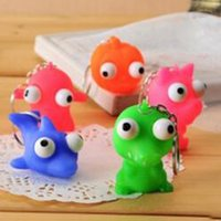 Wholesale Hot Vent extrusion small toys decompression toys squeeze a critical eye doll eyes doll with keychain