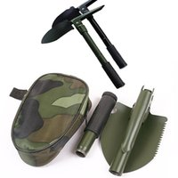 Wholesale Military Survival Camping Folding Shovel Pick Saw Garden Tool Case w Snow Spade Pick Saw Compass
