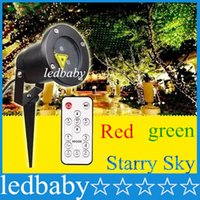 Wholesale IP65 Led Laser Projector Lighting Red Green Show Stage Starry Effect Lights Outdoor Garden Landscape Lawn Lamp Remote Controller