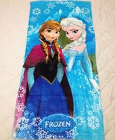 beach videos - 150 cm Frozen Elsa Anna Soft towels Hoodies Baby FROZEN Towel Baby Shower Towels child Hooded beach towels bucket garment