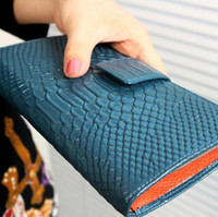 animal cell phone holders - Fashion Crocodile pattern Long Size Clutch Genuine Leather Women Wallet Ladies Coin Purse Girl Handbag Card Holder Hasp Zipper