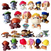 baby wash toy - 7cm Baby Wash Toys Will Ring Soft plastic Toys Children Swimming Dolls Patrol Puppy Marshall Chase set