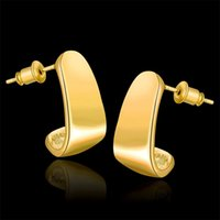 Cheap Free shipping fashion 18K gold plated Stud earrings jewelry KE898