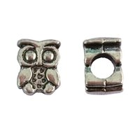 Cheap antique silver Best large hole beads