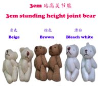Wholesale cm lovely Mini Stuffed Jointed Bear Gift Flower Packing Teddy Bear