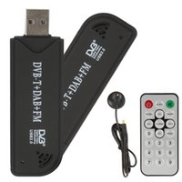 Wholesale RTL SDR FM DAB DVB T USB Mini Digital TV Stick DVBT Dongle SDR with RTL2832U R820T Tuner Receiver Remote Control EGS_034