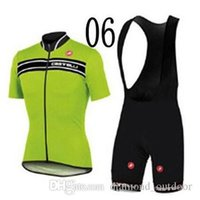 Wholesale factory price Top Quality Castelli Short Sleeve Cycling Jersey Set Bib Pants Breathable Cycling Clothing Castelli Jerseys S XL
