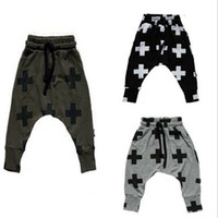 baby hip hop clothing - new Girls Boy Toddler Child Fashion Boys Pants trousers leggings Cross Star hip hop Children Harem Pants For Trousers Baby Clothes