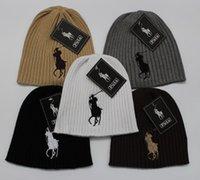 Wholesale color men women polo warm wool hat knitted hat