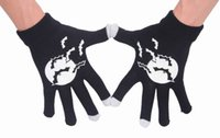 Wholesale Hot Halloween Knitted Touch Screen Texting Gloves Winter Warm Luminous Gloves For Iphone Ipad EIC1