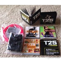Cheap Crazy Workout Shaun T Focus Fitness Tutorial T25 14 DVD Workout Alpha Beta Core With Resistance Band hottest Factory Sealed With The Box