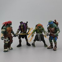 Wholesale 2014 High quality pieces Teenage Mutant Ninja Turtles Action Figure hand done tmnt Toy Model for the boys Gift