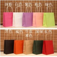 Wholesale 18x15x8cm Paper Hand Carry Bags Recyclable Gift Jewelry Packaging Shopping Bags For Boutique Can Custom Your Logo