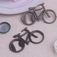 Wholesale 1PCS Europen style creative wedding game gift Cute Fashionable Bike retro Bicycle Metal Beer Bottle Opener Creative Gift for cycling