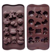 animal ice cube tray - Silica gel cartoon animal cake mould baking tools glue crystal resin ice cube tray chocolate