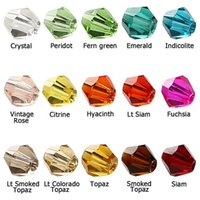 Cheap Wholesale-Czech Seed Bicone Bead(115 LOT)4mm Clear Colorful Crystal Bicone Beads Pick Color DIY Jewelry Faceted Glass Crystal Spacer Beads